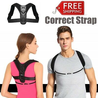 Posture Corrector Clavicle Support Back Straight Shoulders Brace Strap Correct