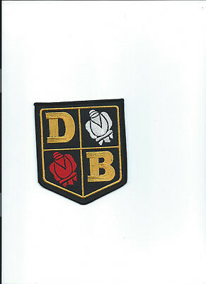 David Brown Large Sew on washable fabric patch emblem BADGE 110 x 90mm rose