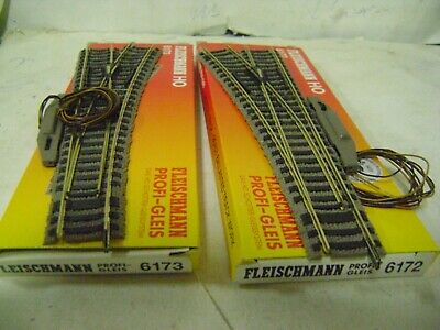 FLEISCHMANN SCAMBI 6172/6173 LEFT/RIGHT Electric  HO LIKE NEW!