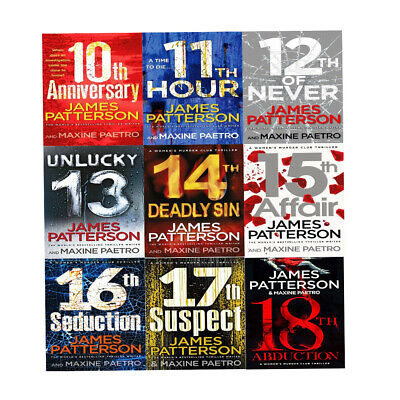 James Patterson Womens Murder Club Series (18th Abduction)9 Books Collection Set