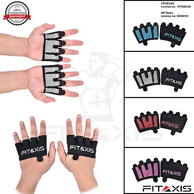 Sports Wear Crosfit Gloves Fingerless Hand Grip Gym Training Gloves Palm Protect