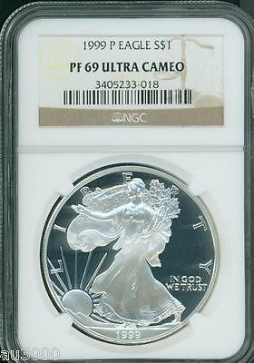 1999-P American Silver Eagle ASE S$1 NGC PF69 PR69 PROOF ULTRA CAMEO UCAM !