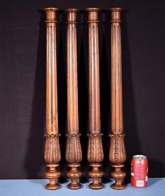"*28"" French Antique Solid Walnut Wood Posts/Pillars/Columns Salvage"