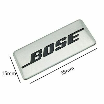 NEW 2Pcs Bose Speakers Badge Emblem Car SILVER Sticker Accessories Decal 2019