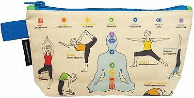 Yoga Zipper Bag - Makeup Cosmetic Case Pouch - Namaste Sport 15 Poses