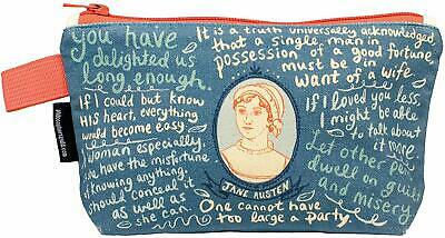 Jane Austen Zipper Bag - Makeup Cosmetic Bag