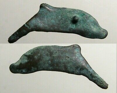 ANCIENT DOLPHIN MONEY____CAST BRONZE____Olbia Thrace______Bottle-Nose Dolphins