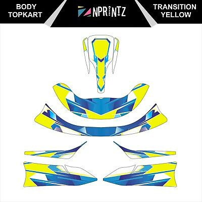 Topkart/Zipkart Bambino Transition Yellow Sticker Kit - Karting -Cadet-Rookie