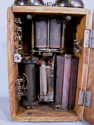 NICE, RARE WESTERN ELECTRIC OAK TYPE 297-G PARTY LINE TELEPHONE SUBSET, phone