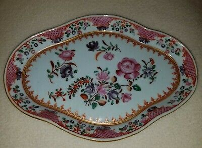18th / Early 19th Cent. China Trade Famille Rose Chinese Export Porcelain Stand