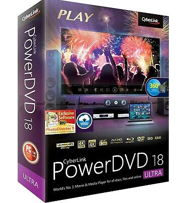 Cyberlink PowerDVD Ultra 18 (Full Lifetime Download) for Windows Fast Delivery