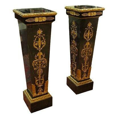 Pair of Monumental Palace Size Marble Pedestals