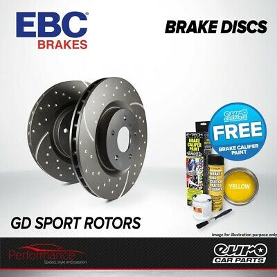 EBC GD Front Performance Brake Discs x2 Pair 258mm Vented GroovedDimpled GD754