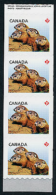Canada 2604i End Coil Strip MNH Baby Woodchucks