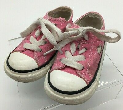 3069677cfe77 PINK CONVERSE ALL Stars Girls Shoes Infant Toddler Baby Size 5 ...