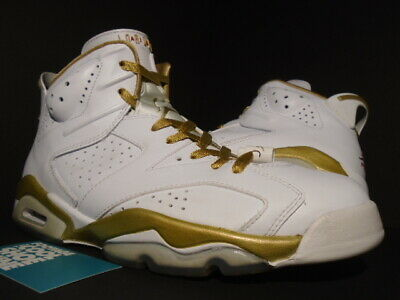 reputable site 878d5 b9cff Nike Air Jordan Vi 6 Retro Gmp Golden Moment Gold Medal Pack White Infrared  10.5