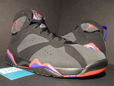 177e8864bdbd 2009 Nike Air Jordan Vii 7 Retro Dmp Toronto Raptors Black Red Grey Purple  10.5