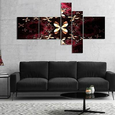 ed560a03616 FRACTAL YELLOW N Red Flower - 3 Piece Graphic Art on Wrapped Canvas ...