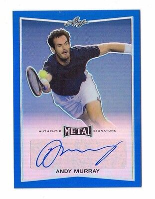 ANDY MURRAY 2016 LEAF METAL TENNIS BLUE AUTOGRAPH #ed 21/25