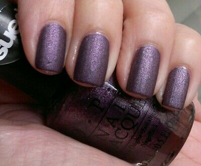 OPI LINCOLN PARK AFTER DARK SUEDE Purple Nail Polish Lacquer .5oz ...