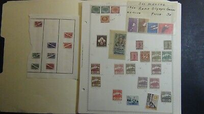 San Marino stamp collection on Minkus pages w/ 325 or so stamps