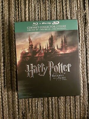 Coffret collector 6 dvd  Blu Ray Harry Potter 3D.