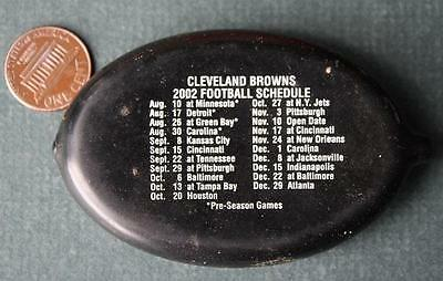 2002 Elyria,Ohio Cleveland Browns schedule Al's Auto rubber squeeze coinpurse!*