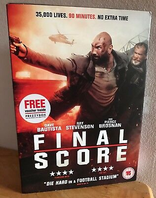 Final Score DVD Dave Bautista ACTION THRILLER! Limited SLIP! NEW SEALED RRP £20!