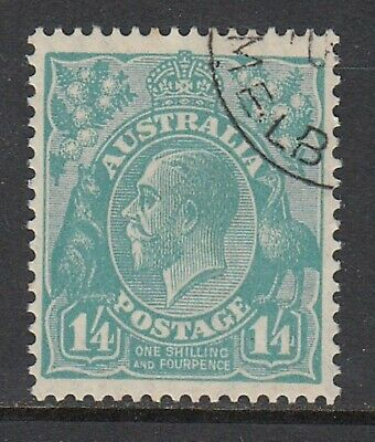 1927 1/4d TURQUOISE KGV, small multiple watermark, perf 13½ x 12½, Fine Used