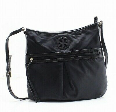6674980198a Tory Burch NEW Black Nylon Swingpack Medium Crossbody Bag Purse  225-  092
