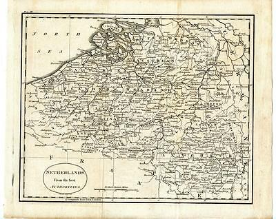 1700s Copper Engraving Map Netherlands Luxemburg Germany J. Russell