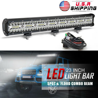 23Inch 480W LED Work Light Bar Flood Spot Offroad SUV Fog Driving Lamp