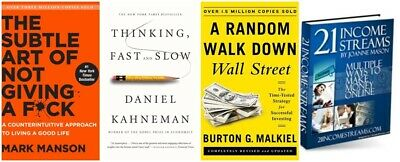 PACK 4x1:Thinking fast and Slow+The Subtle Art +A random walk down wall street..