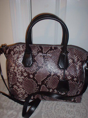 4bada7280c04 NWT Michael Kors Campbell Python Embossed Leather Large Satchel Handbag