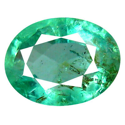 1.31 ct Significant Oval Cut (8 x 6 mm) Colombian Emerald Natural Gemstone