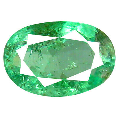 0.95 ct Sparkling Oval Cut (8 x 5 mm) Colombian Emerald Natural Gemstone
