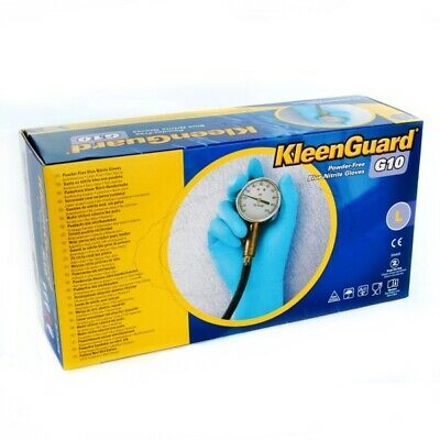 Kimberley Clark 57373 Kleen Guard Premium Blue Nitrile Work Gloves 100 Pieces L