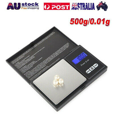 NEW 500g 0.01 DIGITAL POCKET SCALES JEWELLERY ELECTRONIC milligram micro mg 2019