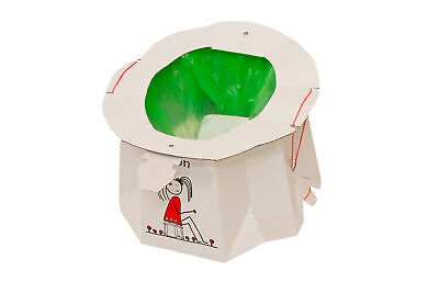 Hippychick Tron Disposable Travel Potty - White - 12pc Pack