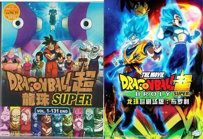 Anime DVD Dragon Ball Super Complete Vol.1-131 End + Broly The Movie Free Ship