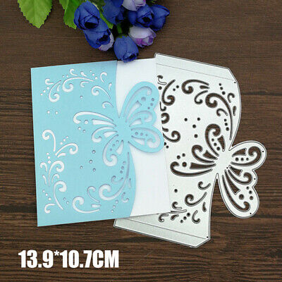 Butterfly Envelope Metal Cutting Dies Stencil Scrapbook Embossing Card DIY Craft