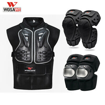 Motorcycle Armour Body Vest Chest Guards Jacket Knee Elbow Pads Protective Bike