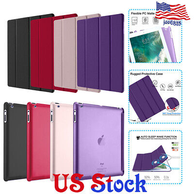 Slim Magnetic Leather Smart Stand Shockproof Case Cover for Apple iPad 234 New