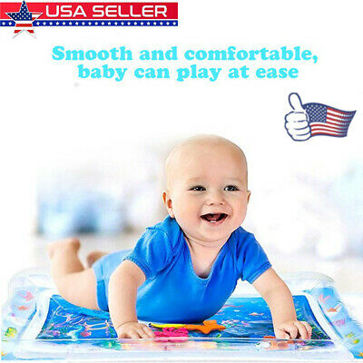 NEW Inflatable Fun Water Play Mat for Kids Baby Children Infants Best Tummy Time