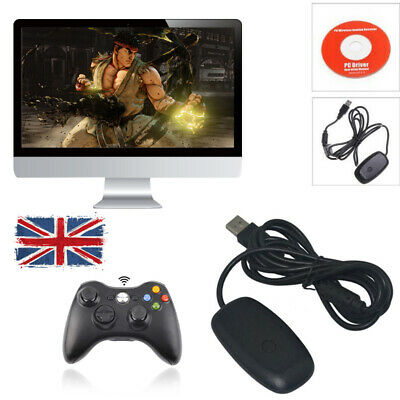 Wireless Controller Gaming Receiver PC Laptop Adapter For Microsoft Xbox 360 UK