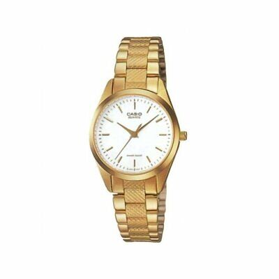 Casio Women's LTP-1274G-7A 'Classic' Gold-Tone Stainless Steel Watch - White