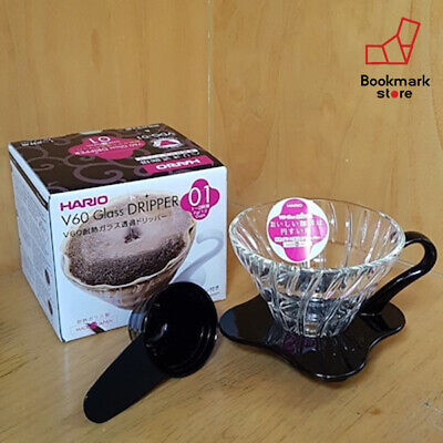 Hario V60 Glass Coffee Dripper VDG-01B Drip 1~2 cups Black from Japan F/S