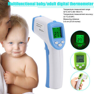 Baby Thermometer Non-Contact Forehead LCD IR Infrared Medical Digital Adult Body