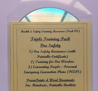 FIRE SAFETY BUNDLE Health & Social Care Training Resources & Policy Templates CD