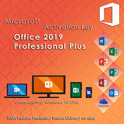 Microsoft Office 2019 Professional Plus For Windows 10 Product Key License Suite